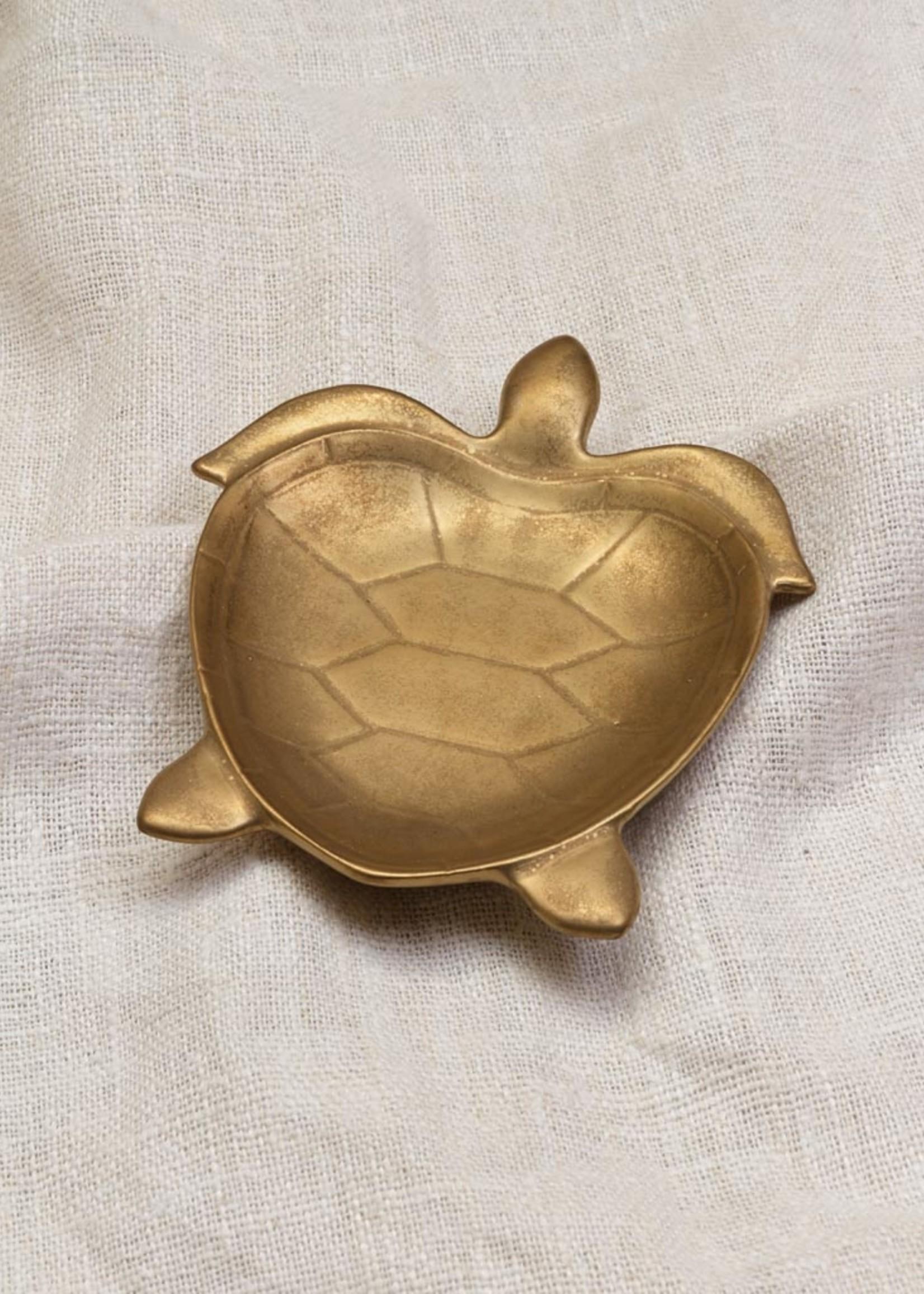 Chehoma Schaaltje SCHILDPAD goud Small 18 x 15cm