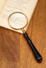 Chehoma Vergrootglas met houten handvat ZWART 22 x 7 cm