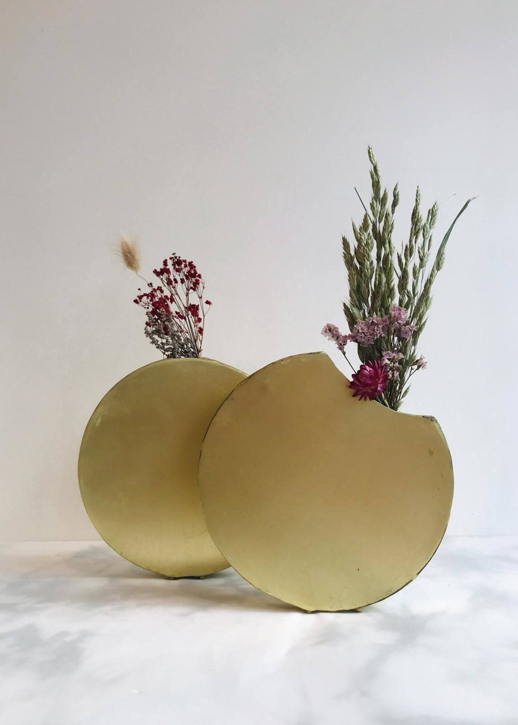Naman Project Vaas MAAN VOL goud metaal 3 x 18 x 18 cm