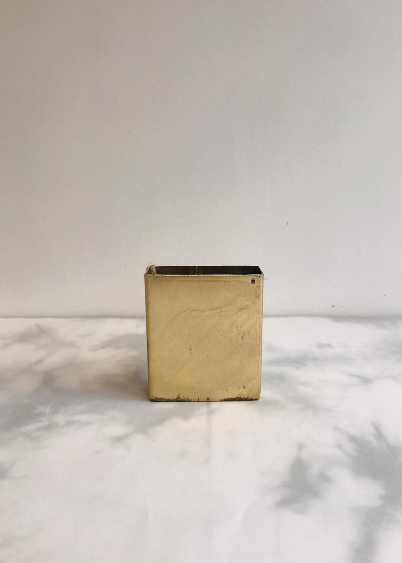 Naman Project Vaas POCKET metaal GOUD 7.5x2.5x8cm