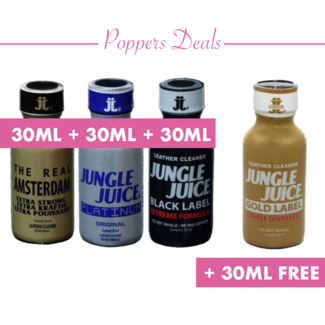 Poppers 30ml Combideal 3+1 free