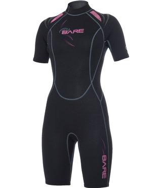 2mm Sport Shorty Pink Women