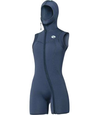 7mm Nixie S-Flex Step-In Hooded Vest Black Women