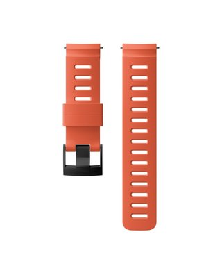 24mm Dive 1 Silicone Strap Kit D5 Coral/Black M