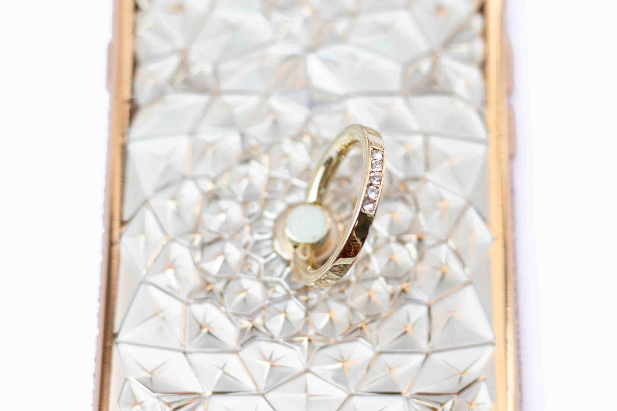 Smartphonehoesje iPhone 6s | Bling (met handige ring) | Goud