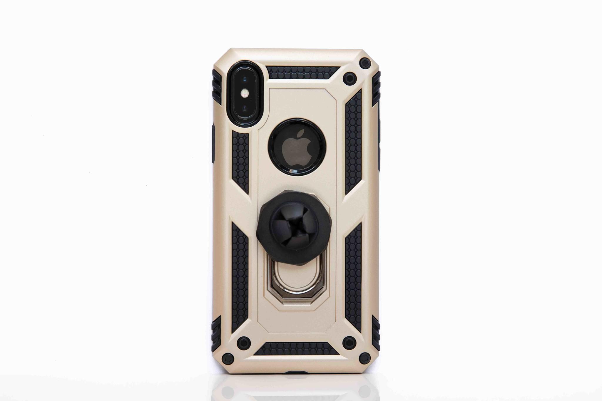 Smartphonehoesje iPhone X / XS | Bouw / shockproof (met handige magneet) | Goud