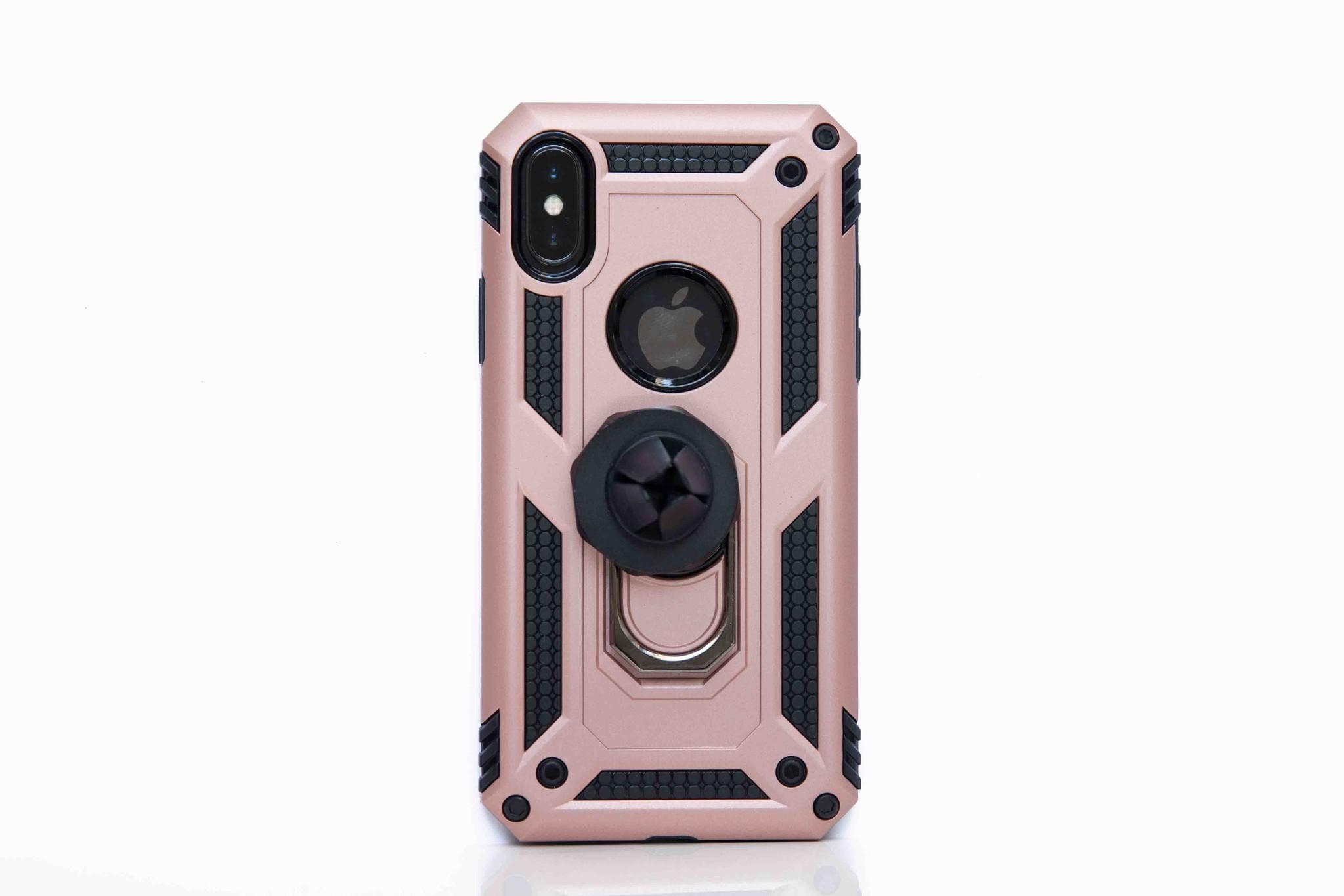 Smartphonehoesje iPhone X / XS | Bouw / shockproof (met handige magneet) | Roze