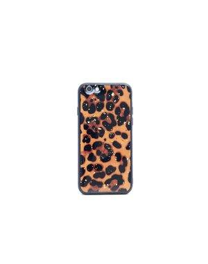Smartphonehoesje iPhone 6s | Luipaard print (glitters)