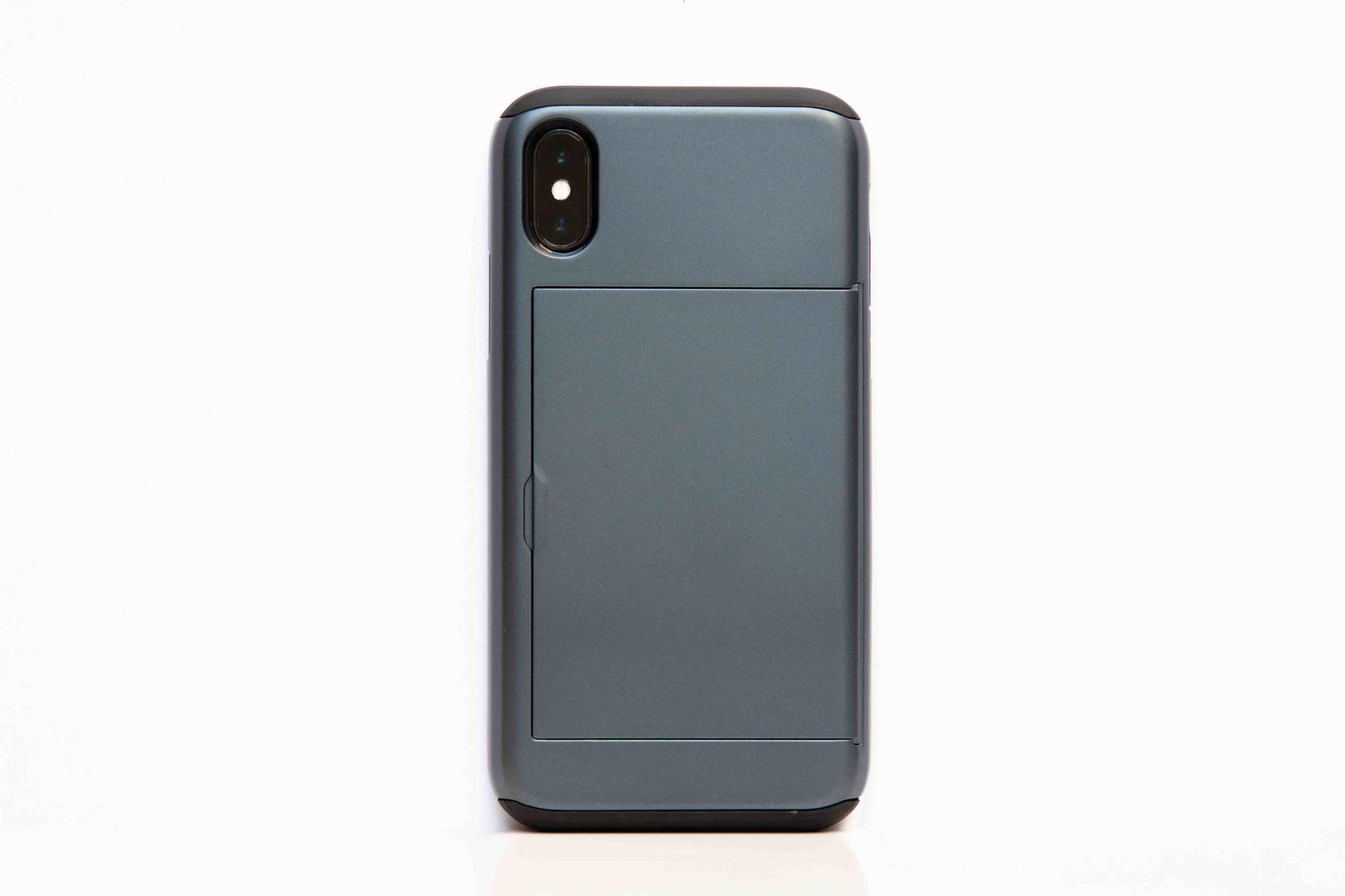 Smartphonehoesje iPhone X / XS | Portemonnee hoesje (voor pasjes) | Grijs
