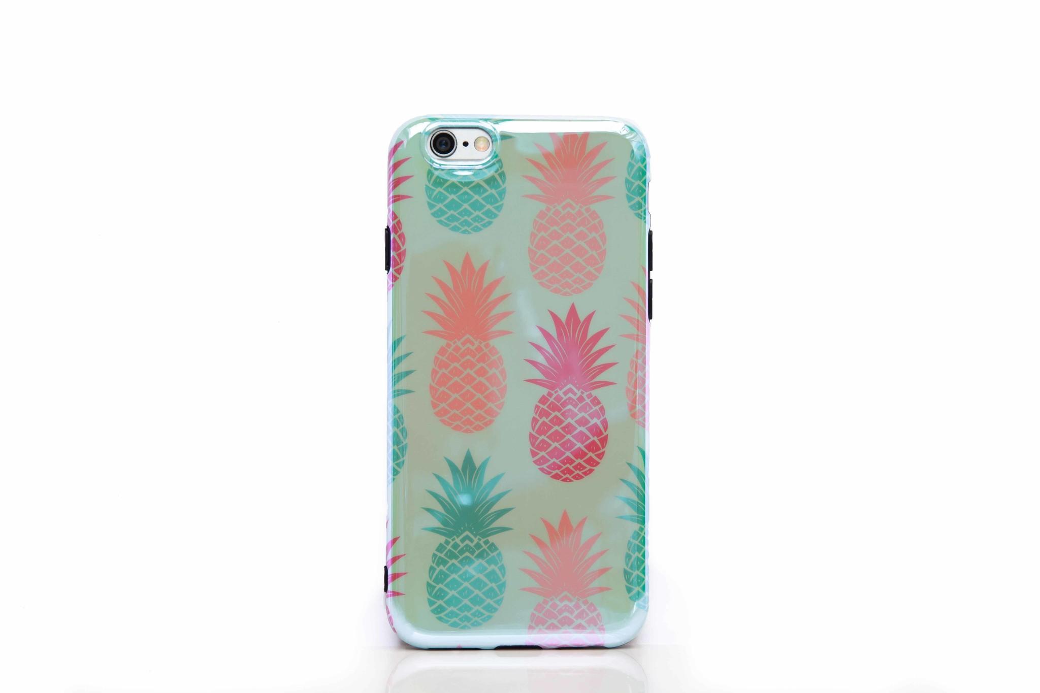 Smartphonehoesje iPhone 7 / 8 | Summervibes (ananas) | Blauwroze