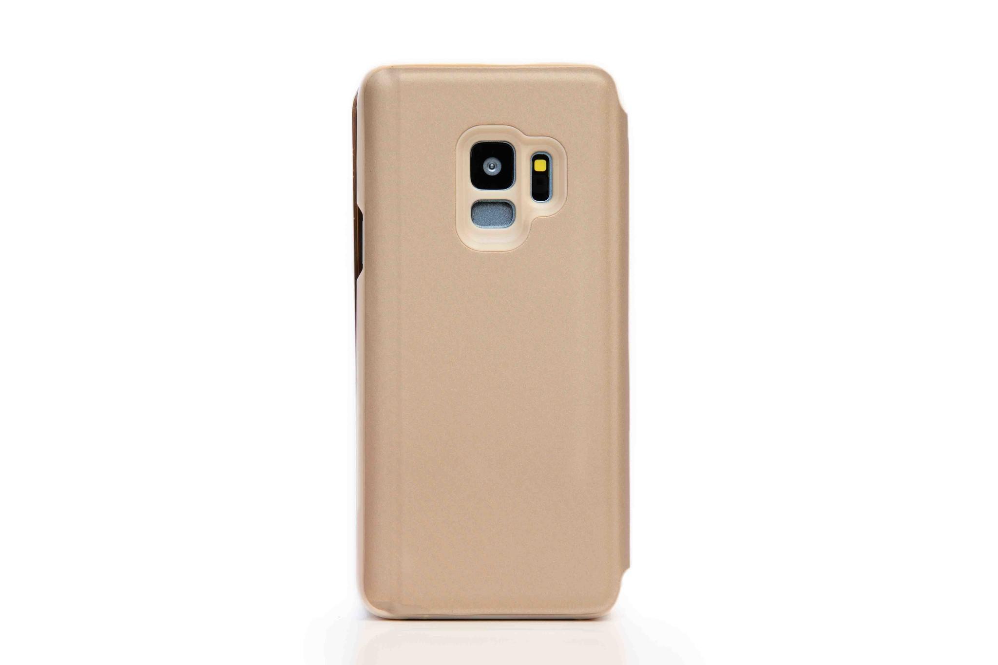 Smartphonehoesje Samsung S10 | Bling | Shiny goud met flipcase