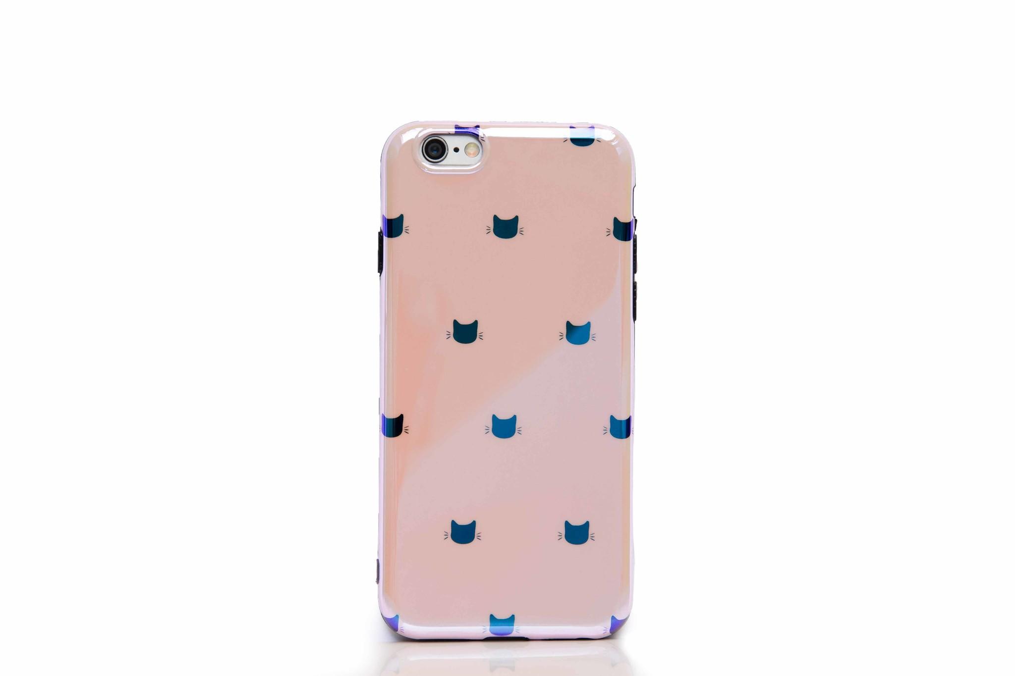 Smartphonehoesje iPhone 7 / 8 | Kattenhoofdjes roze