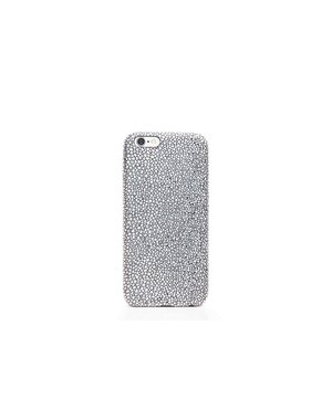 Smartphonehoesje iPhone 6s | Bling (leather look) | Zilver