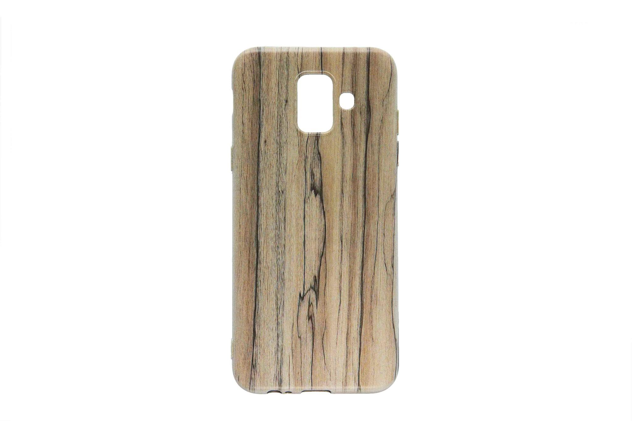 Smartphonehoesje Samsung A6 | Stoer (Houtlook) | Bruin