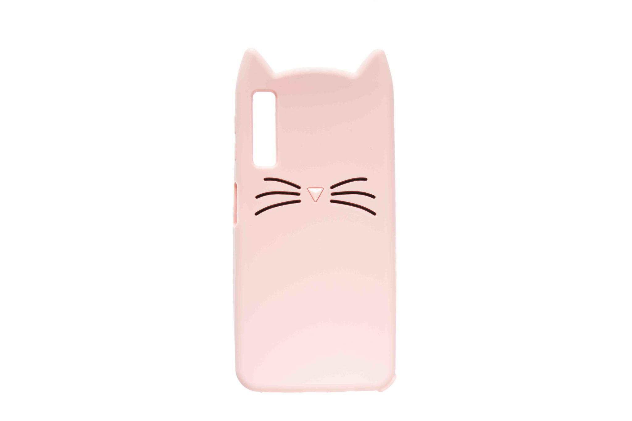 Smartphonehoesje Samsung A7 | Dieren (Kat) | Roze