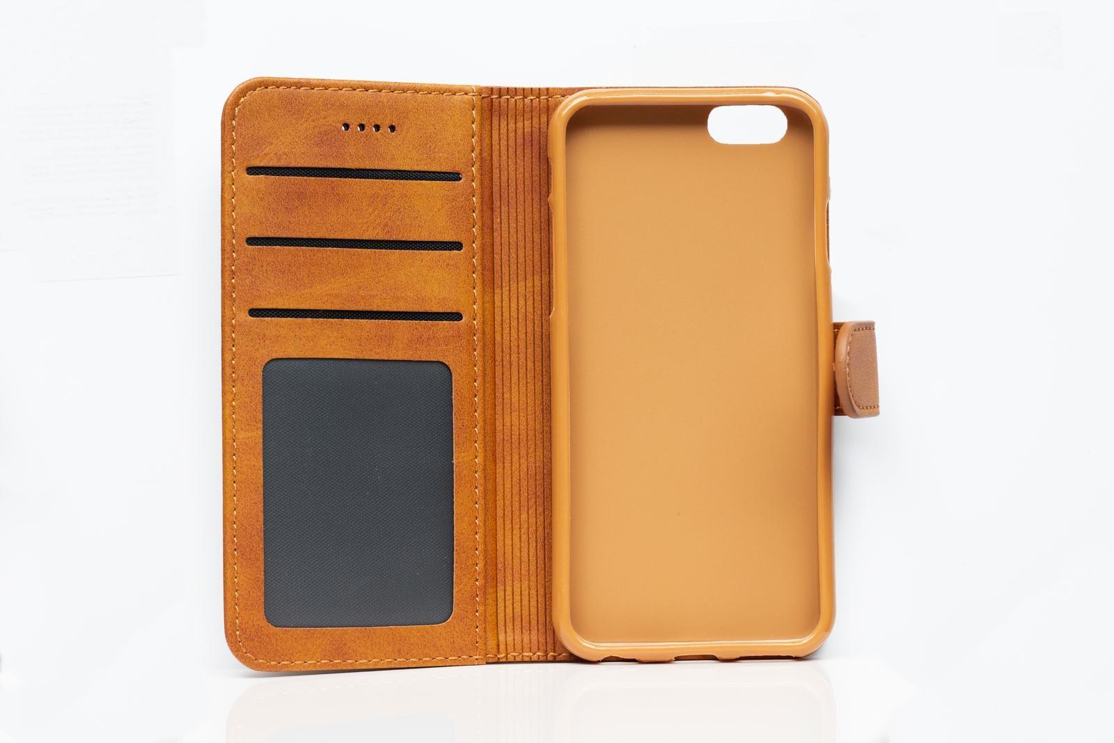 Smartphonehoesje iPhone 6s | Portemonnee (met flipcase) | Cognac