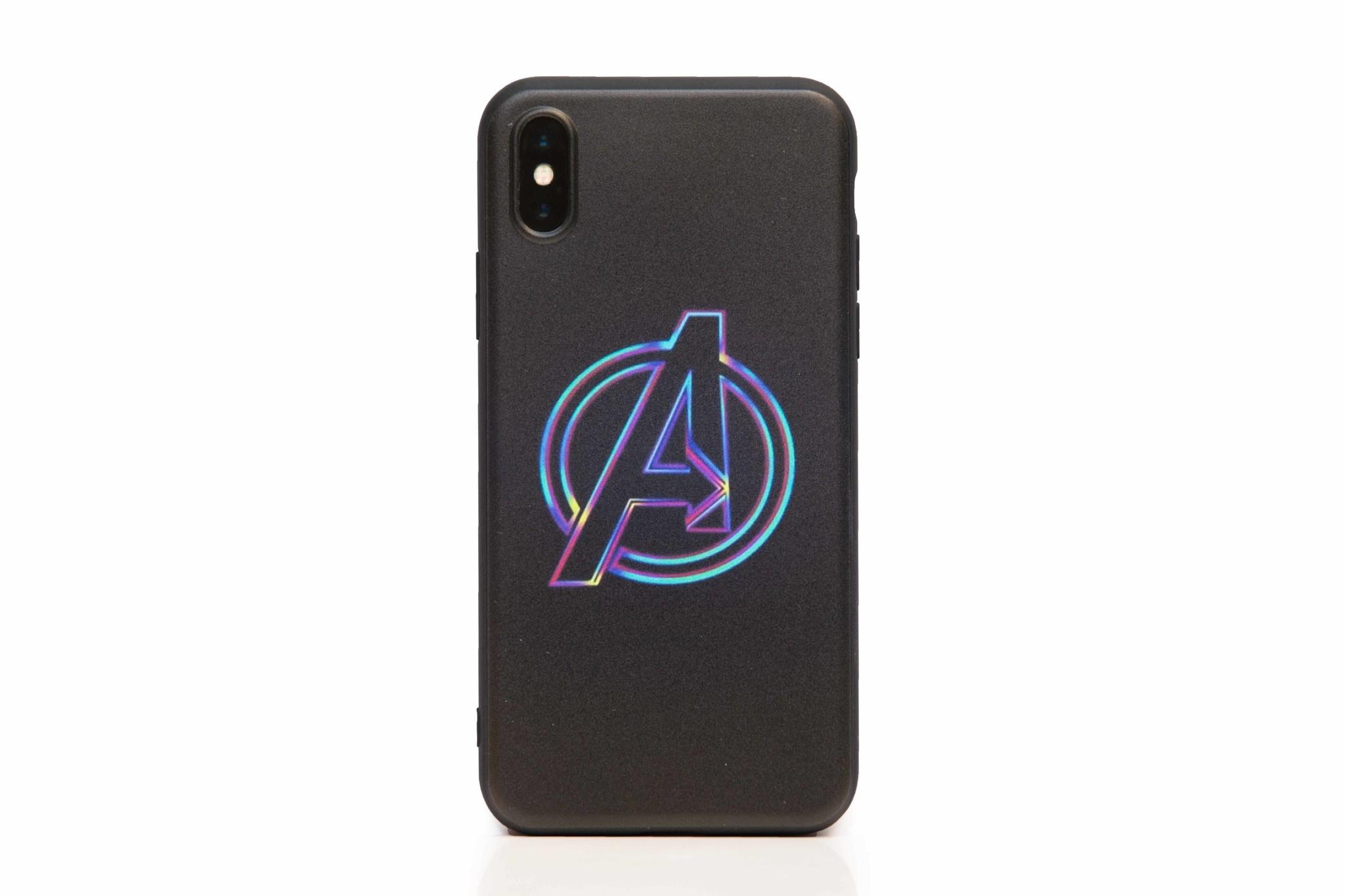 Smartphonehoesje iPhone XR | Marvel (Avengers logo)