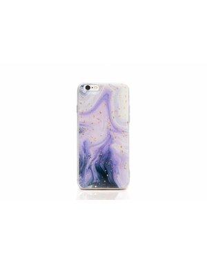 Smartphonehoesje iPhone X / XS | Marmerlook (glitter)