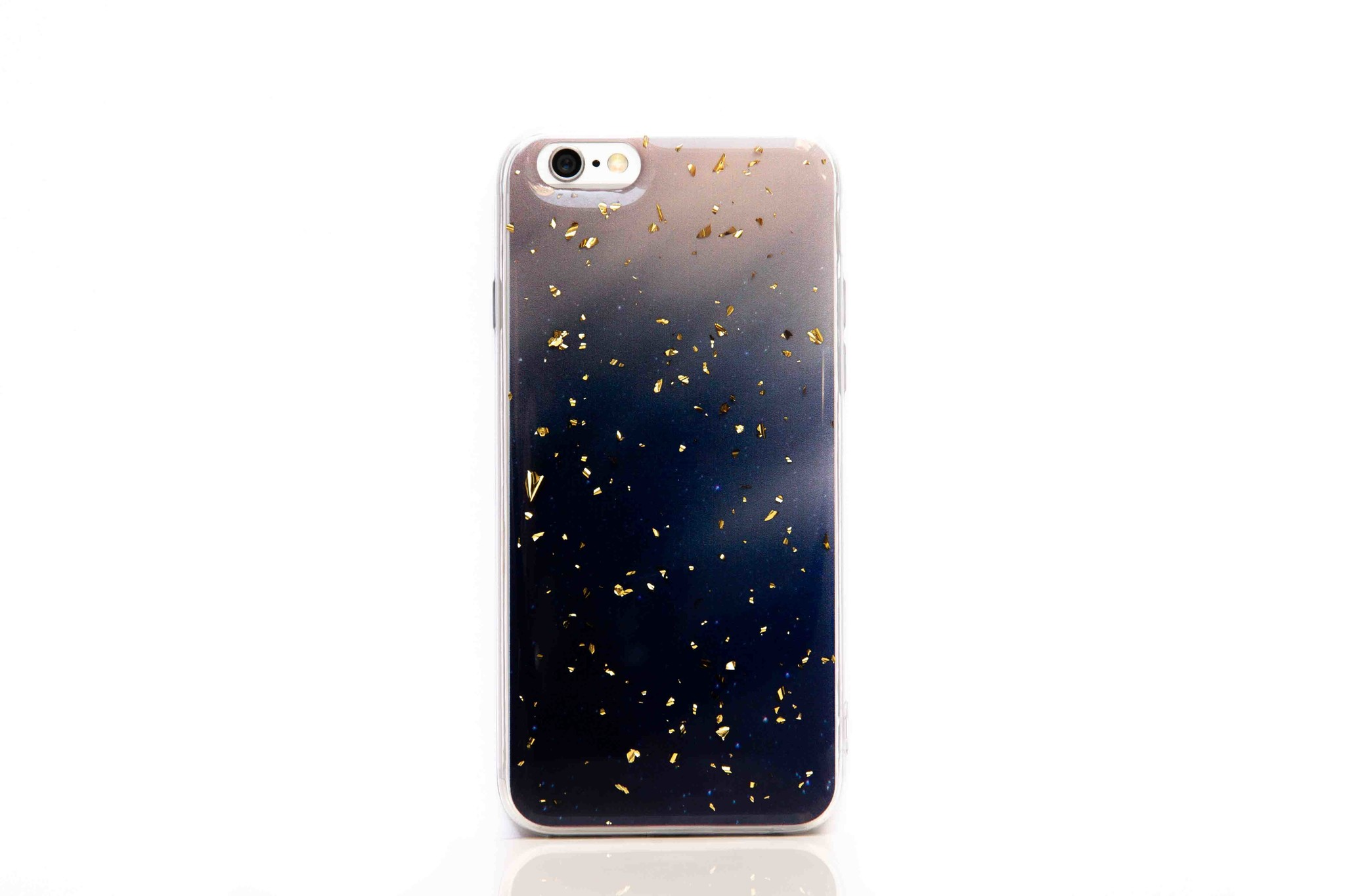 Smartphonehoesje iPhone X / XS | Marmerlook (glitter) | Blauw / roze