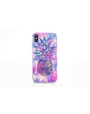 Smartphonehoesje iPhone 7 / 8   Multicolor ananas