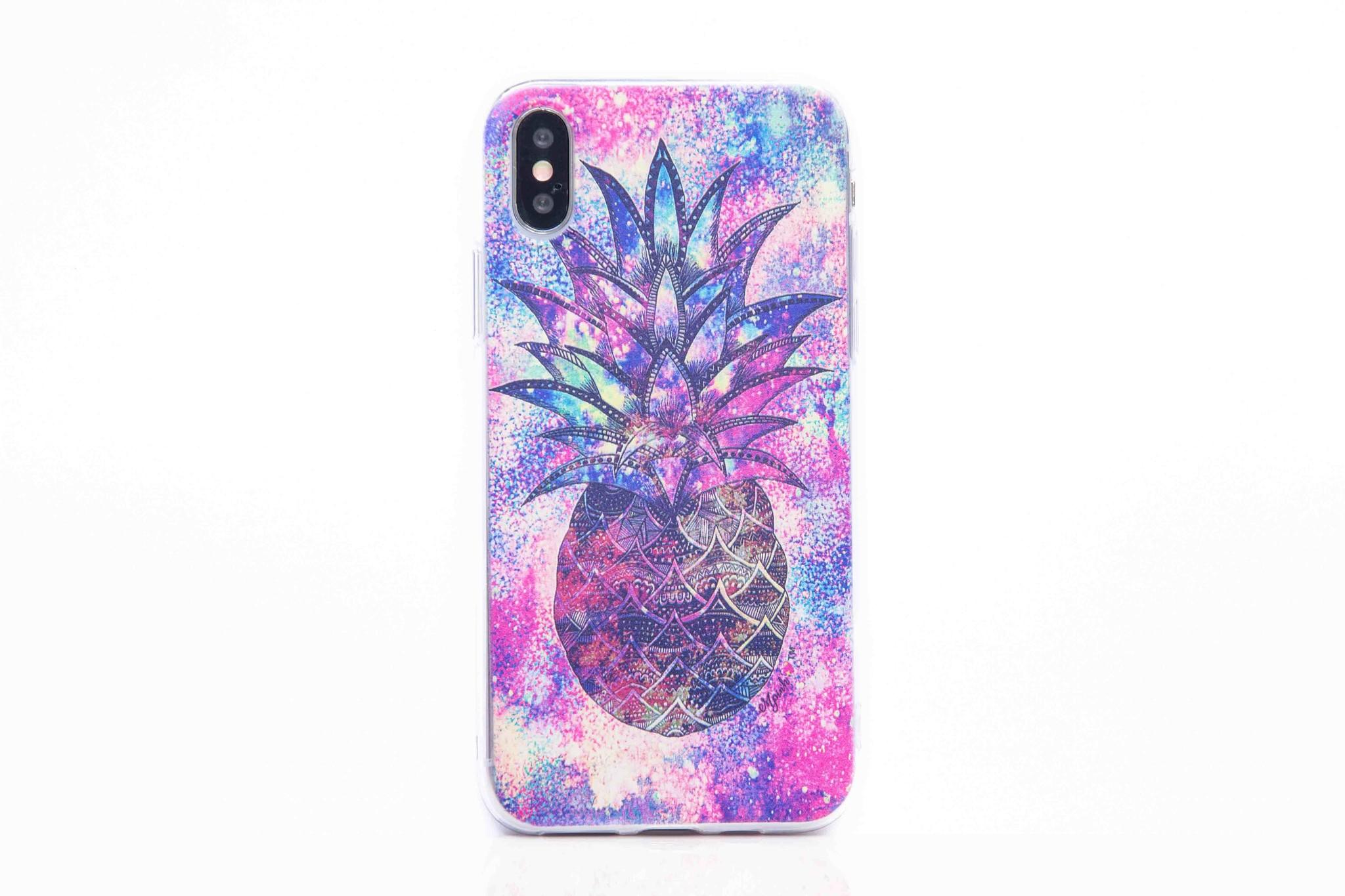 Smartphonehoesje iPhone 7 / 8 | Multicolor ananas
