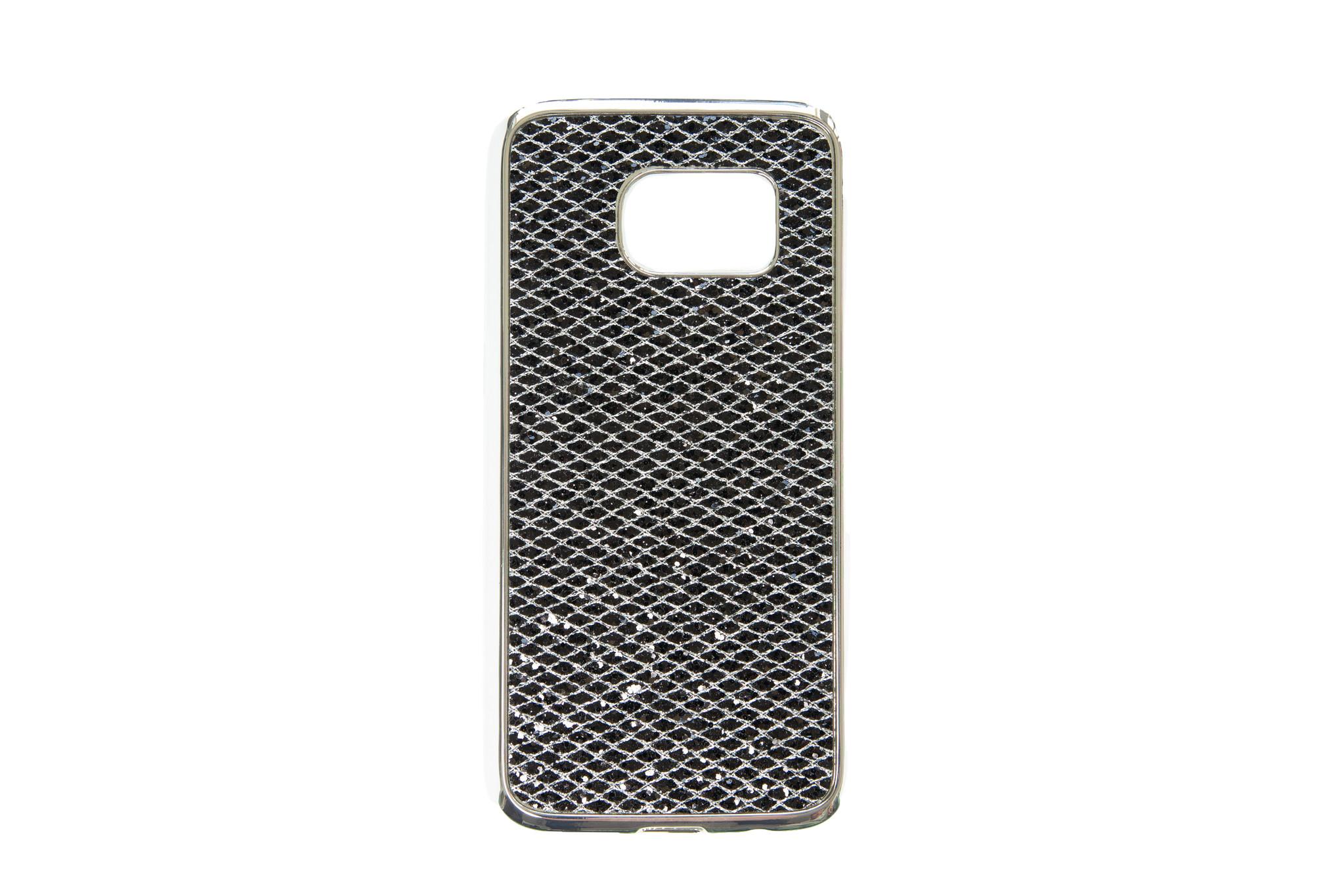 Smartphonehoesje Samsung S7   Bling met glitters   Zwart
