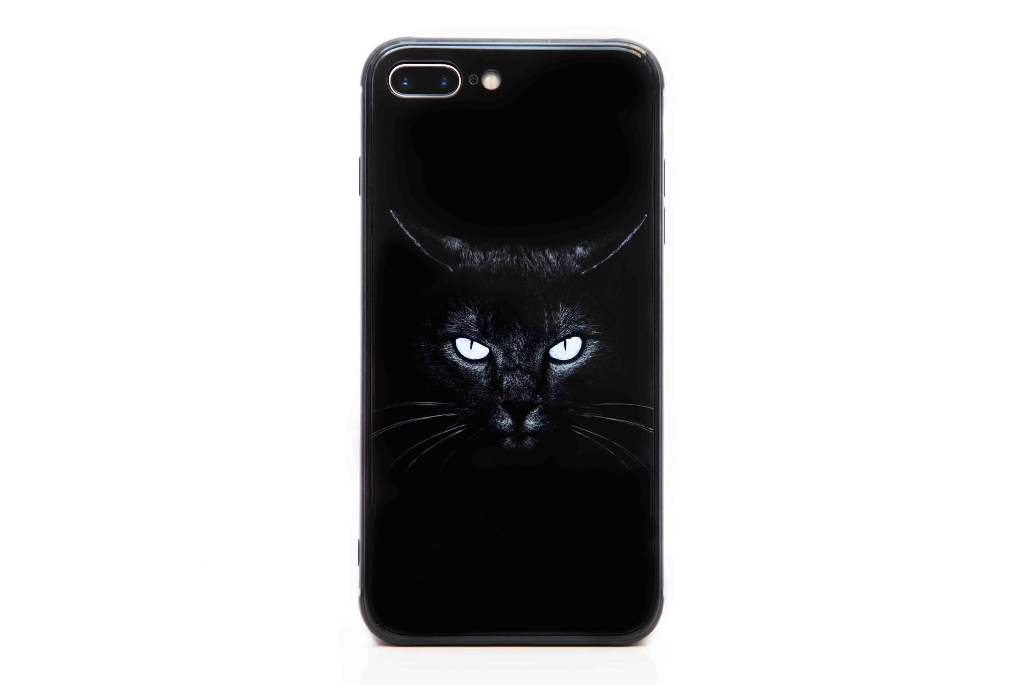 Smartphonehoesje iPhone XR | Dierenprint (zwarte kat)