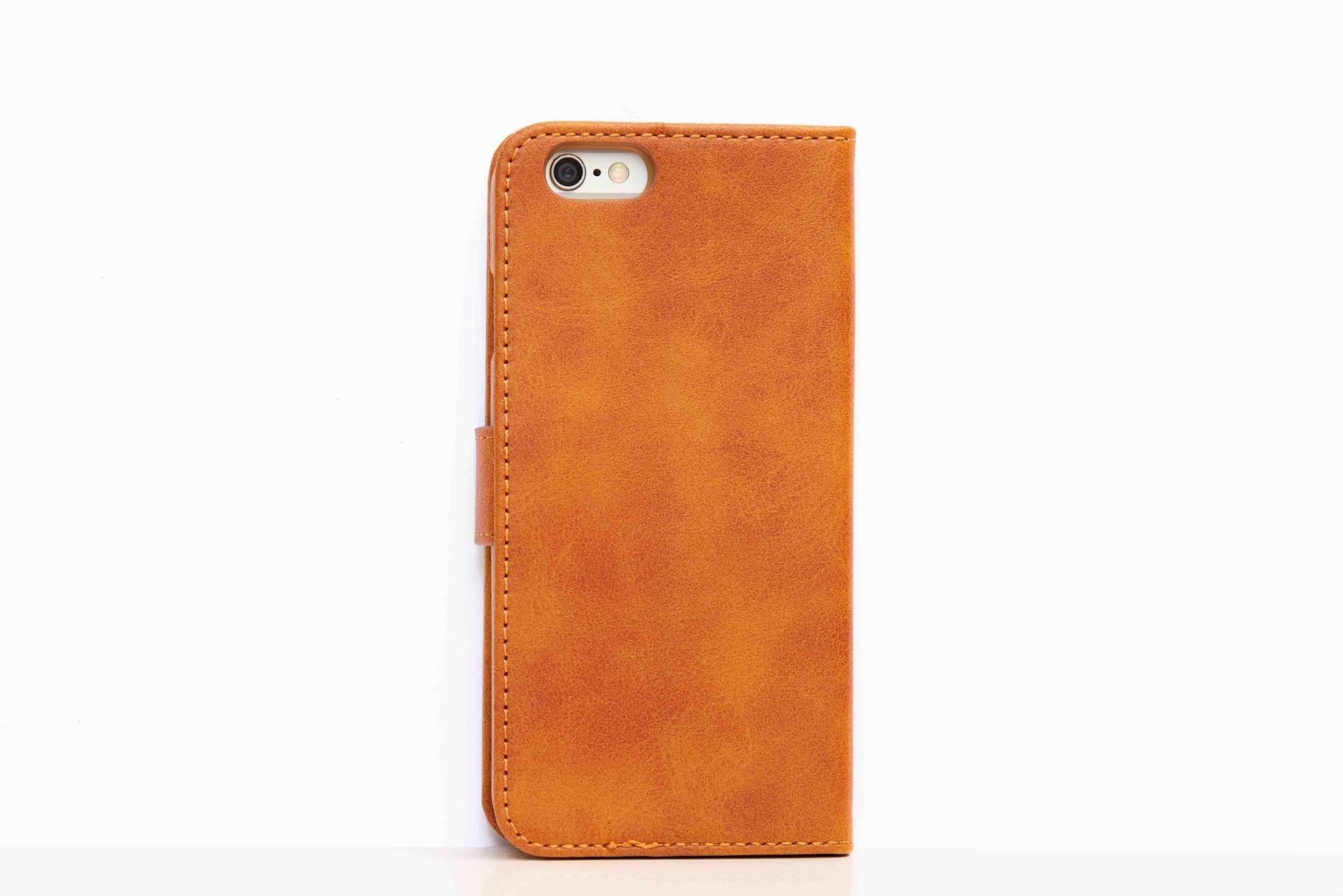 Smartphonehoesje iPhone Pro | Portemonnee | Cognac