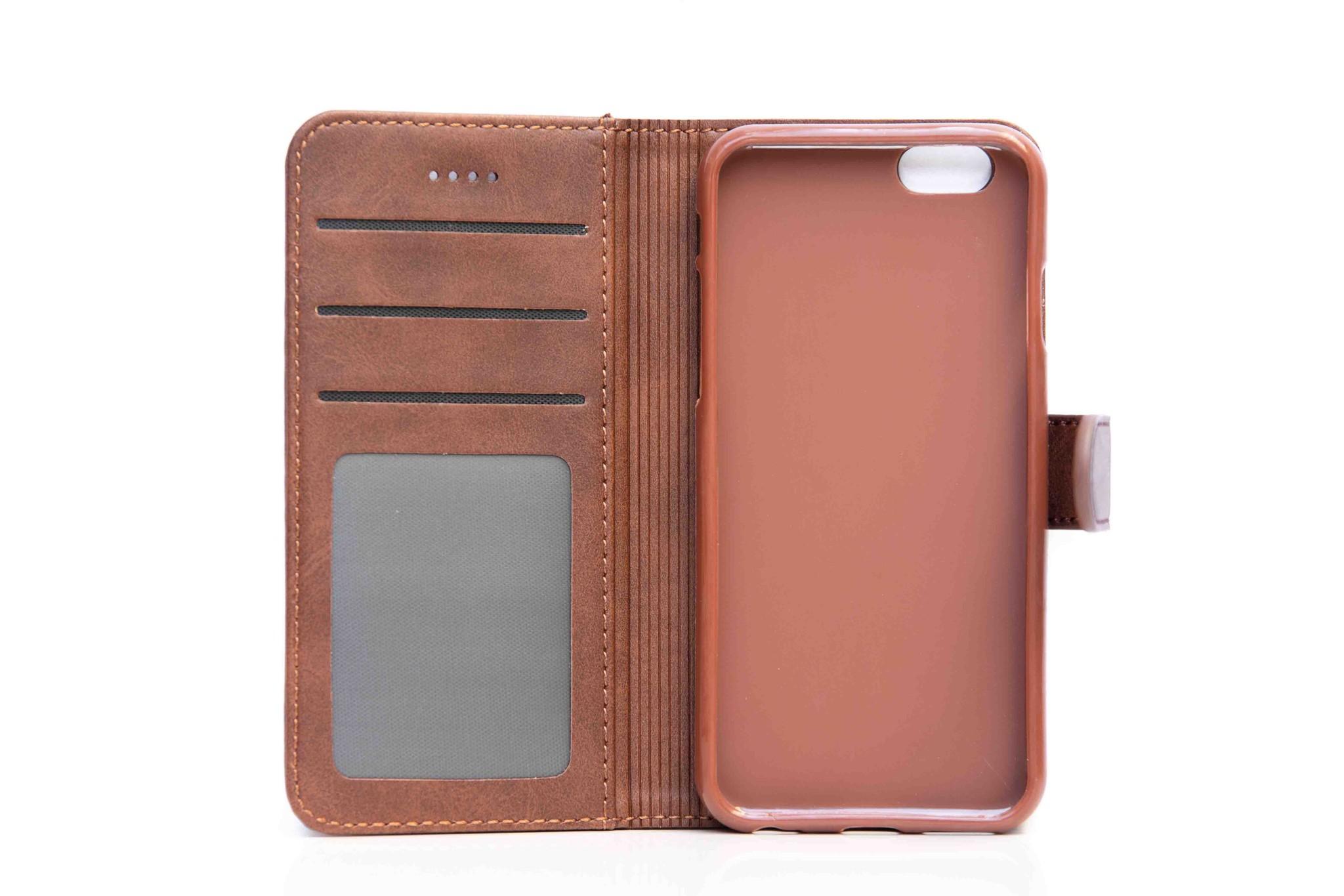 Smartphonehoesje iPhone Pro | Portemonnee | Bruin