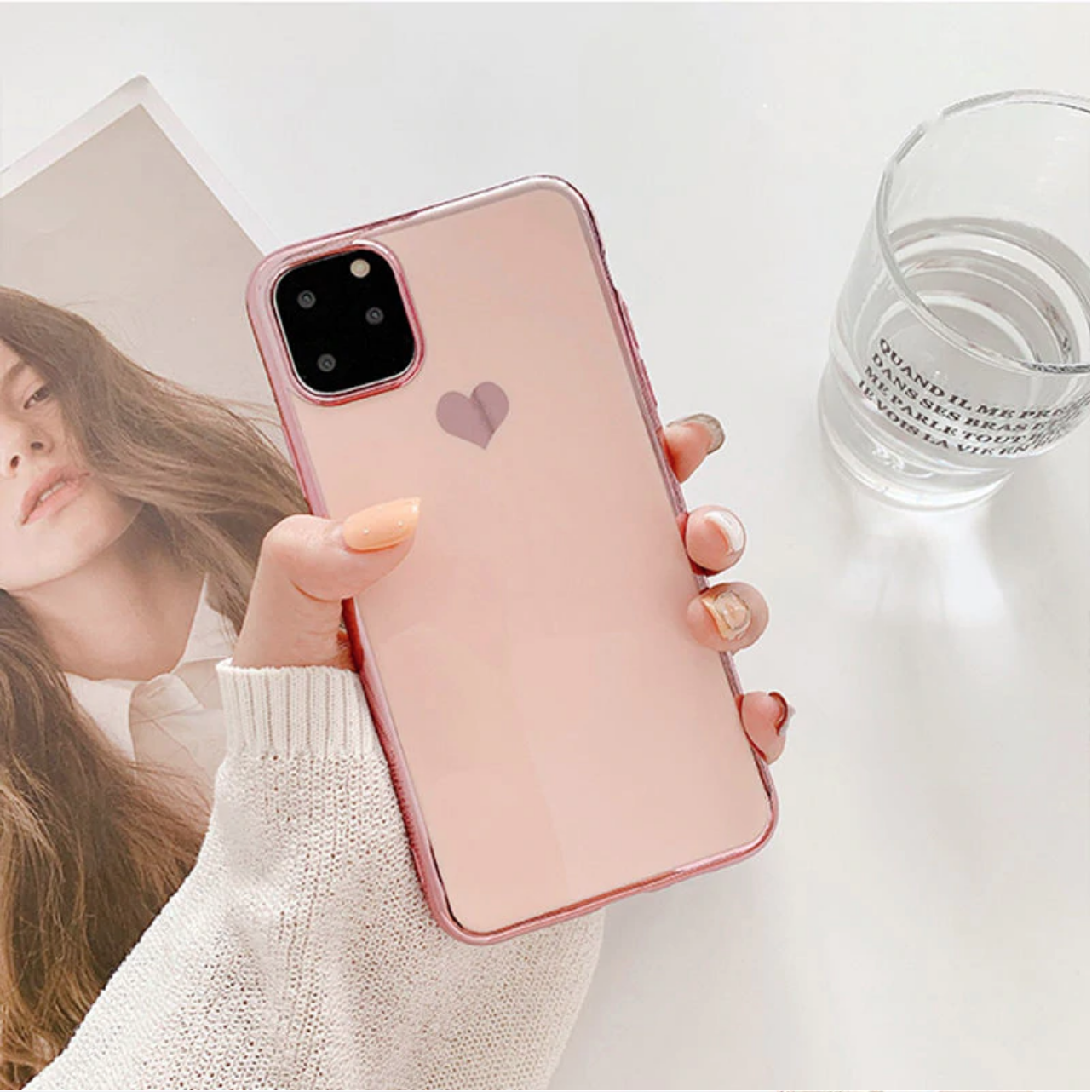 Smartphonehoesje iPhone 11 Pro | Poederroze