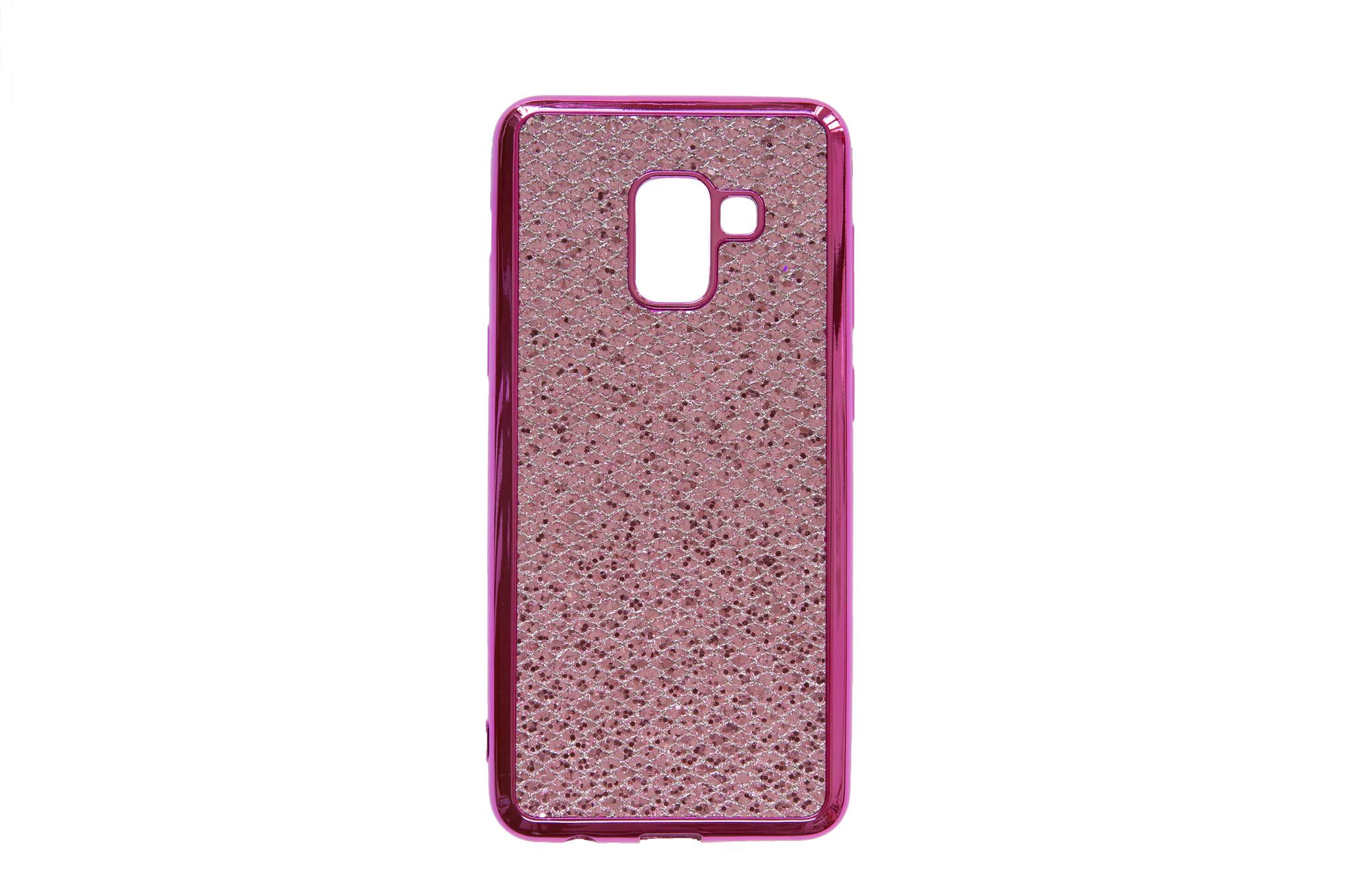 Smartphonehoesje Samsung A8 | Bling met glitters | Roze