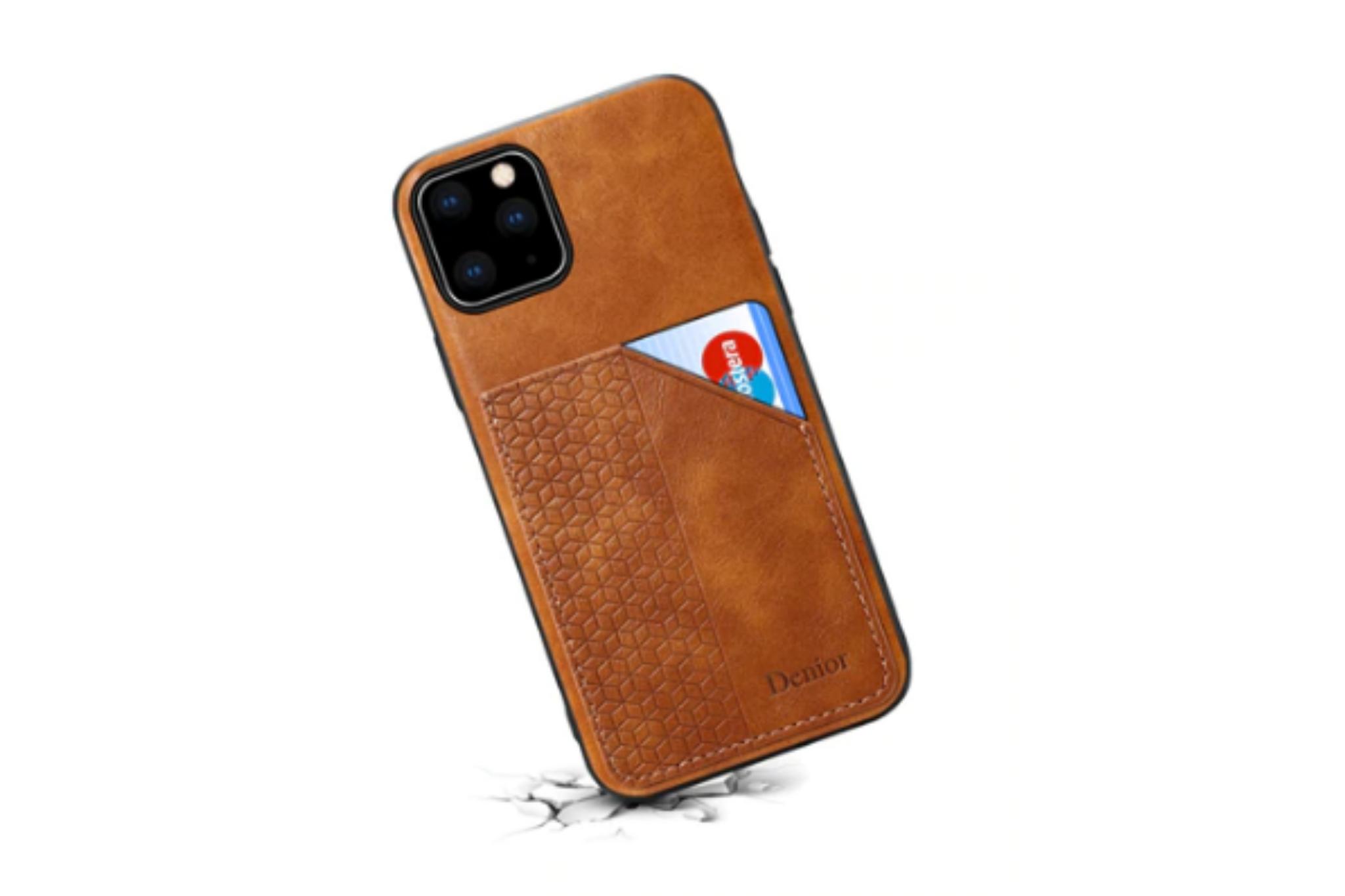 Smartphonehoesje iPhone 11 Pro | Portemonnee | Bruin