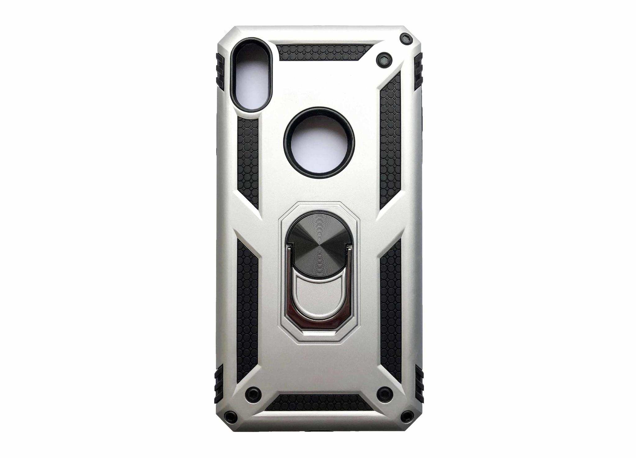 Smartphonehoesje iPhone 7 plus / 8 plus | Bouw / shockproof (met handige magneet) | Zilver