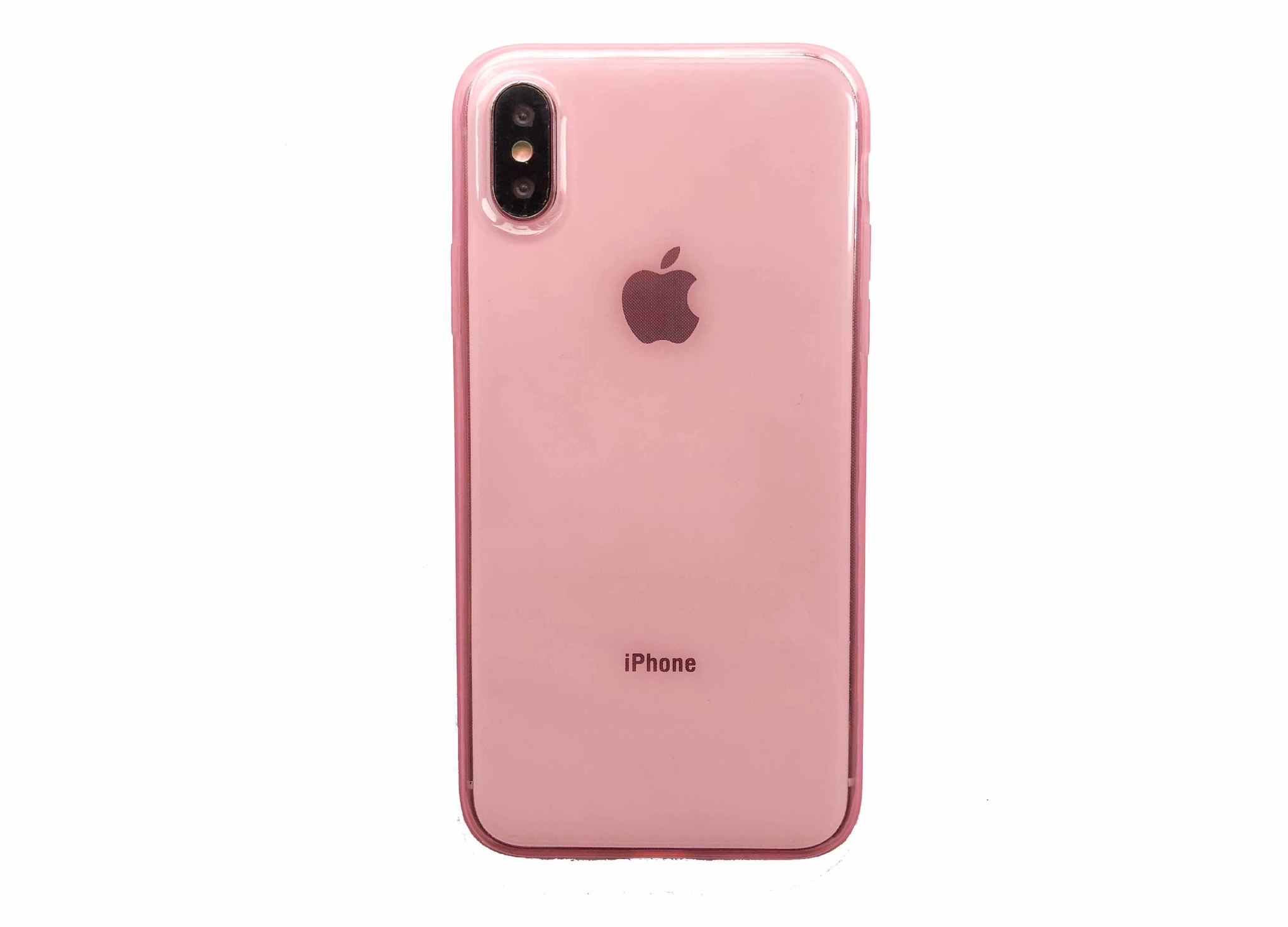 Smartphonehoesje iPhone X / XS | Roze / transparant