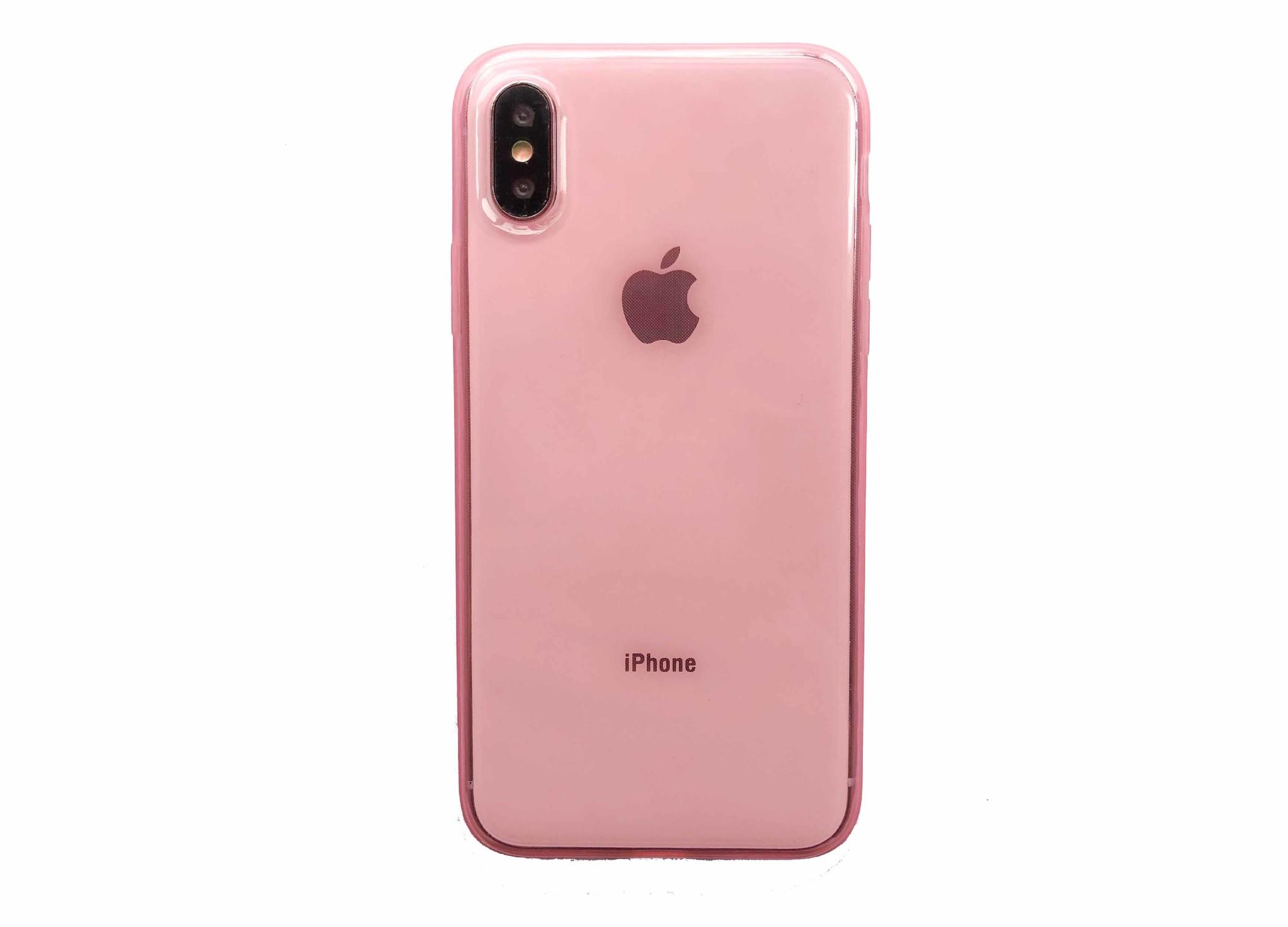 Smartphonehoesje iPhone 7/8 | Roze / transparant