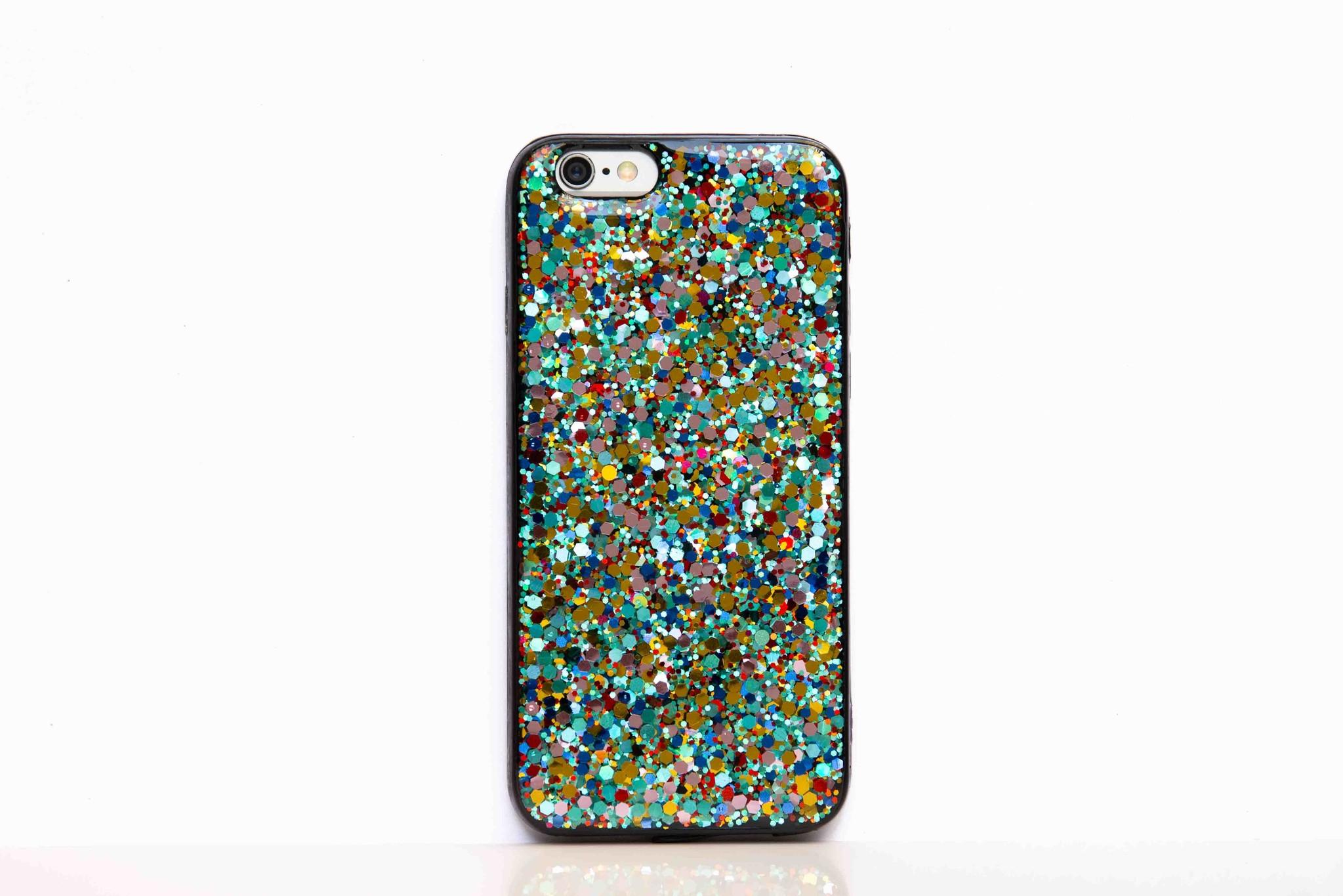 Smartphonehoesje iPhone 7 plus / 8 plus   Multicolor glitters