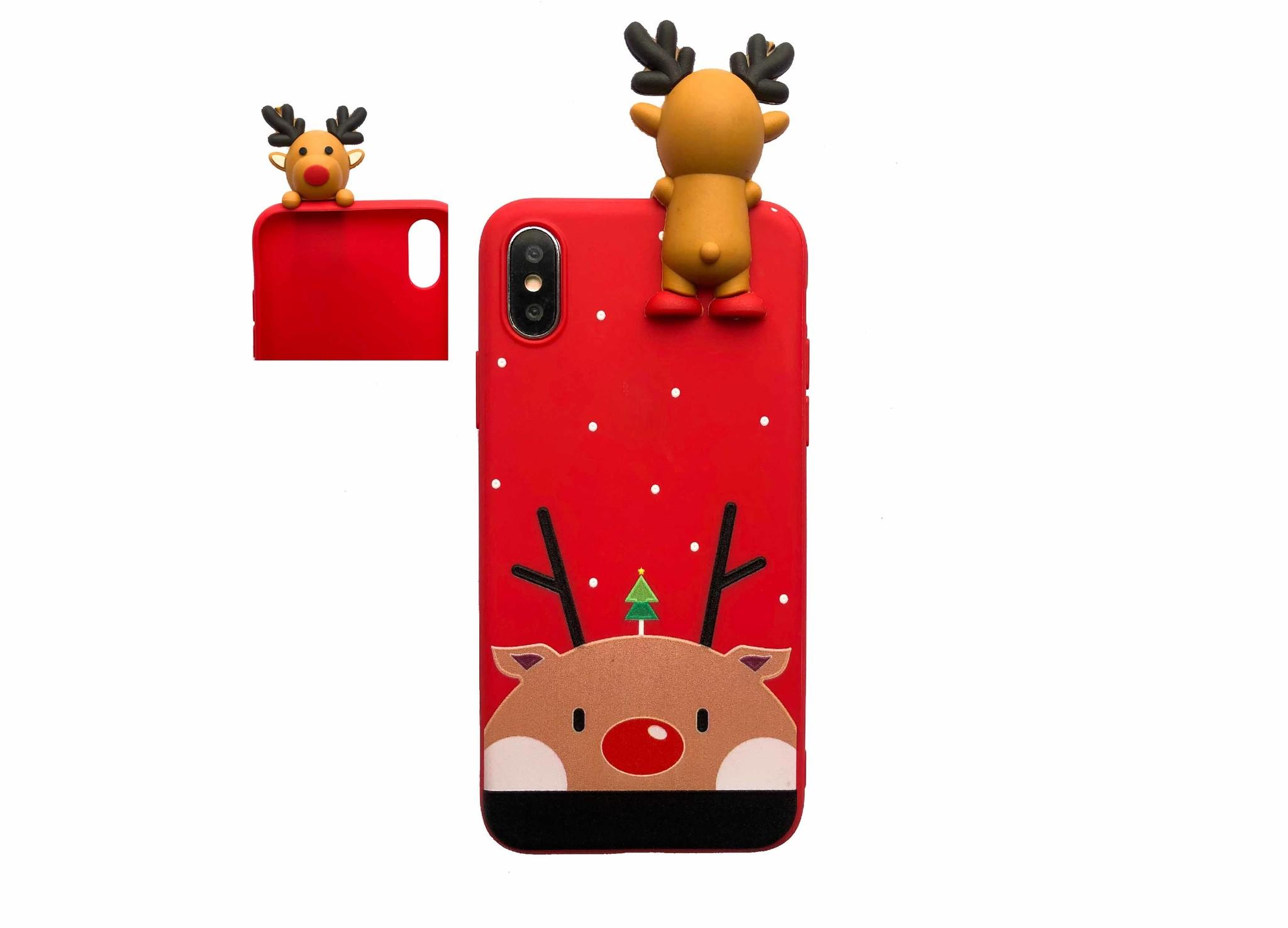 Smartphonehoesje iPhone X/XS | Kerstman 3D