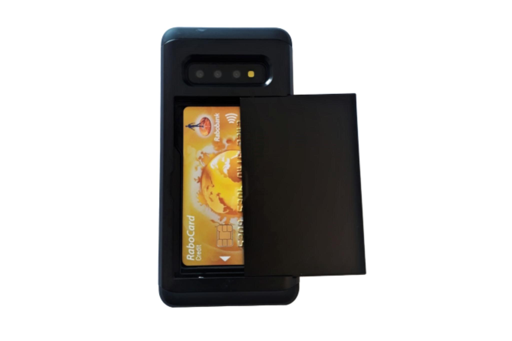 Smartphonehoesje Samsung S10 | Pasjesschuif | Zwart