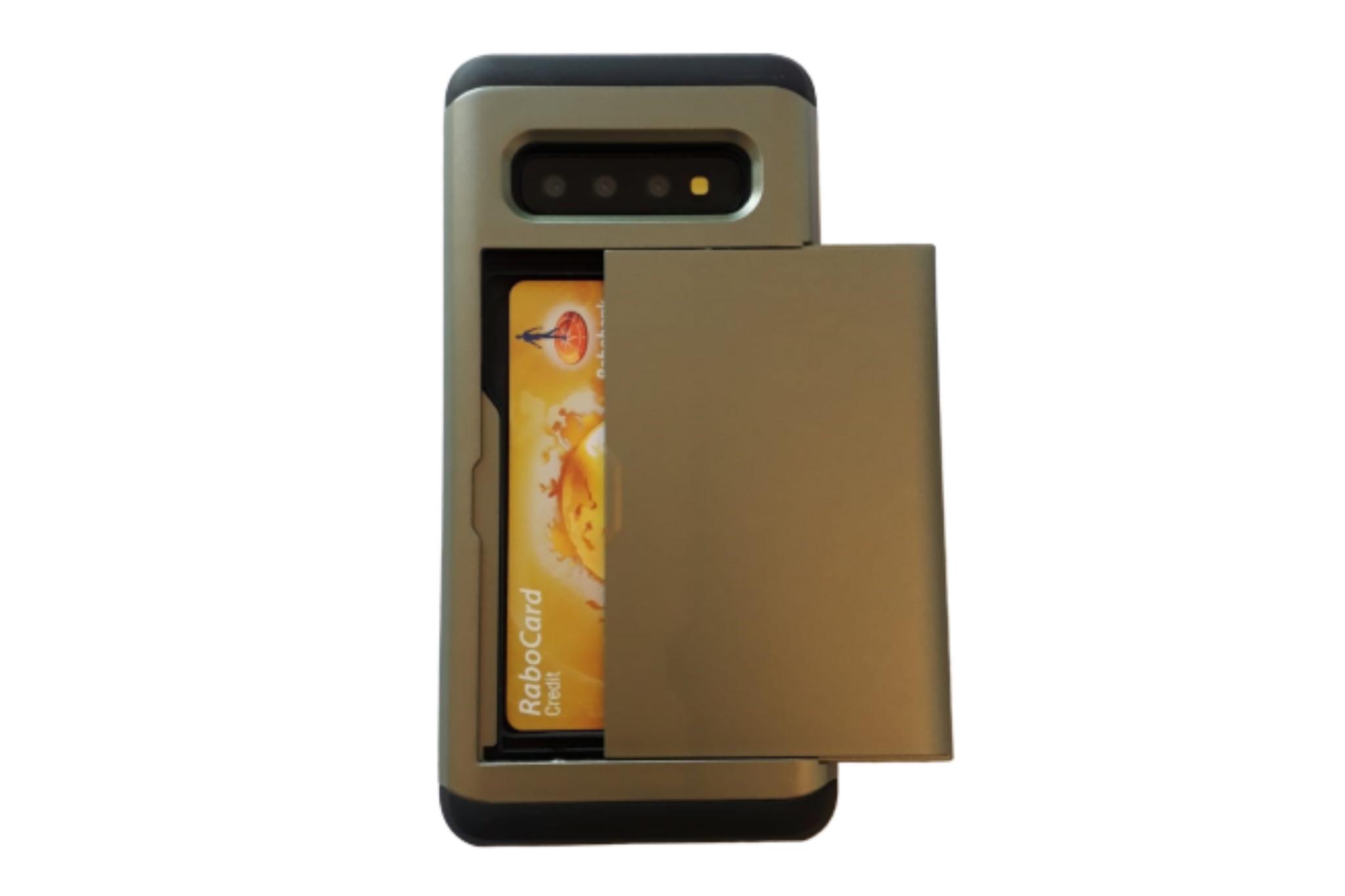 Smartphonehoesje Samsung S9 | Pasjesschuif | Chique groen