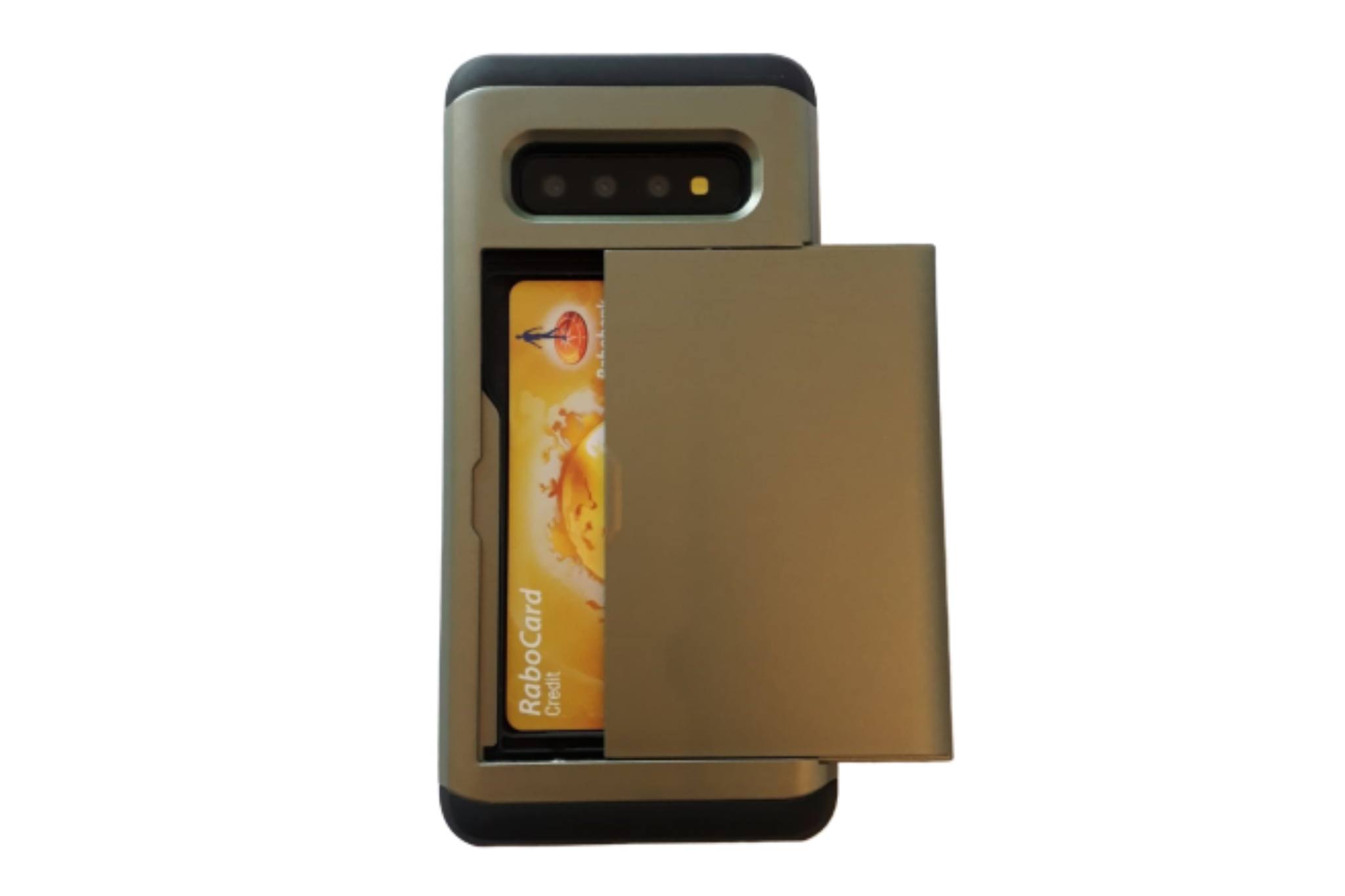 Smartphonehoesje Samsung Note 10 | Pasjesschuif | Chique groen