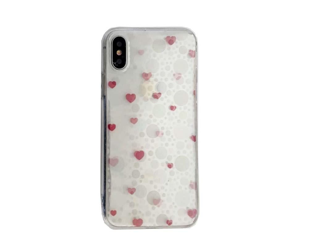 Smartphonehoesje iPhone X/XS | Transparant met kleine hartjes