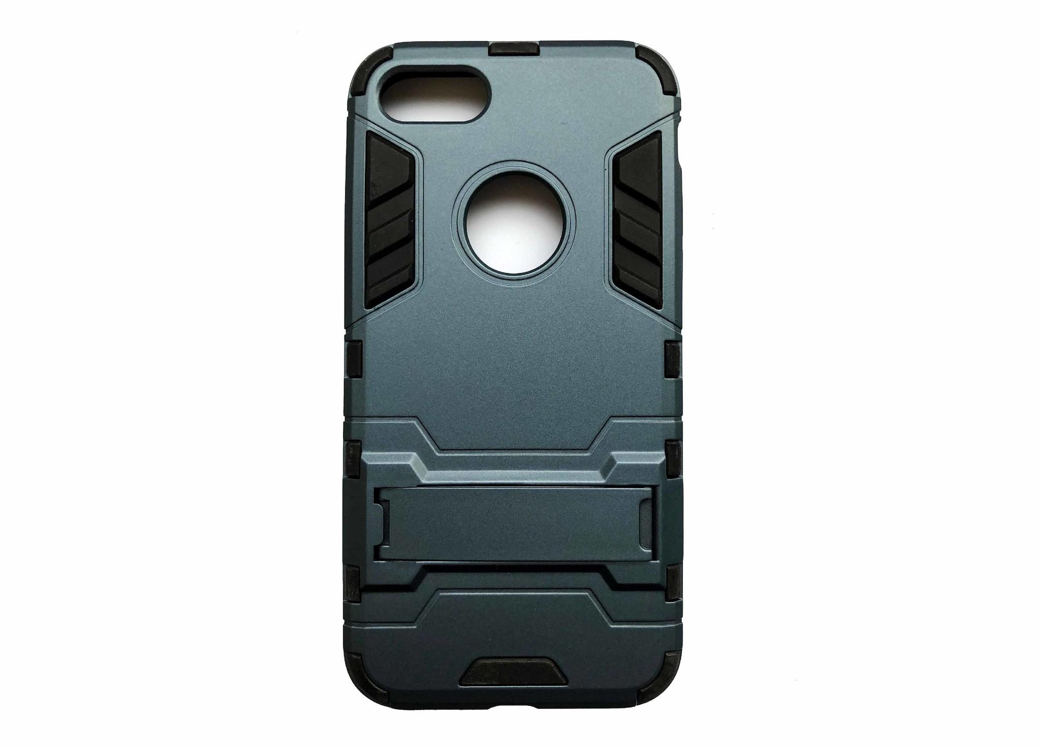 Smartphonehoesje iPhone XS Max | Shockproof met standaard - Blauw/Grijs
