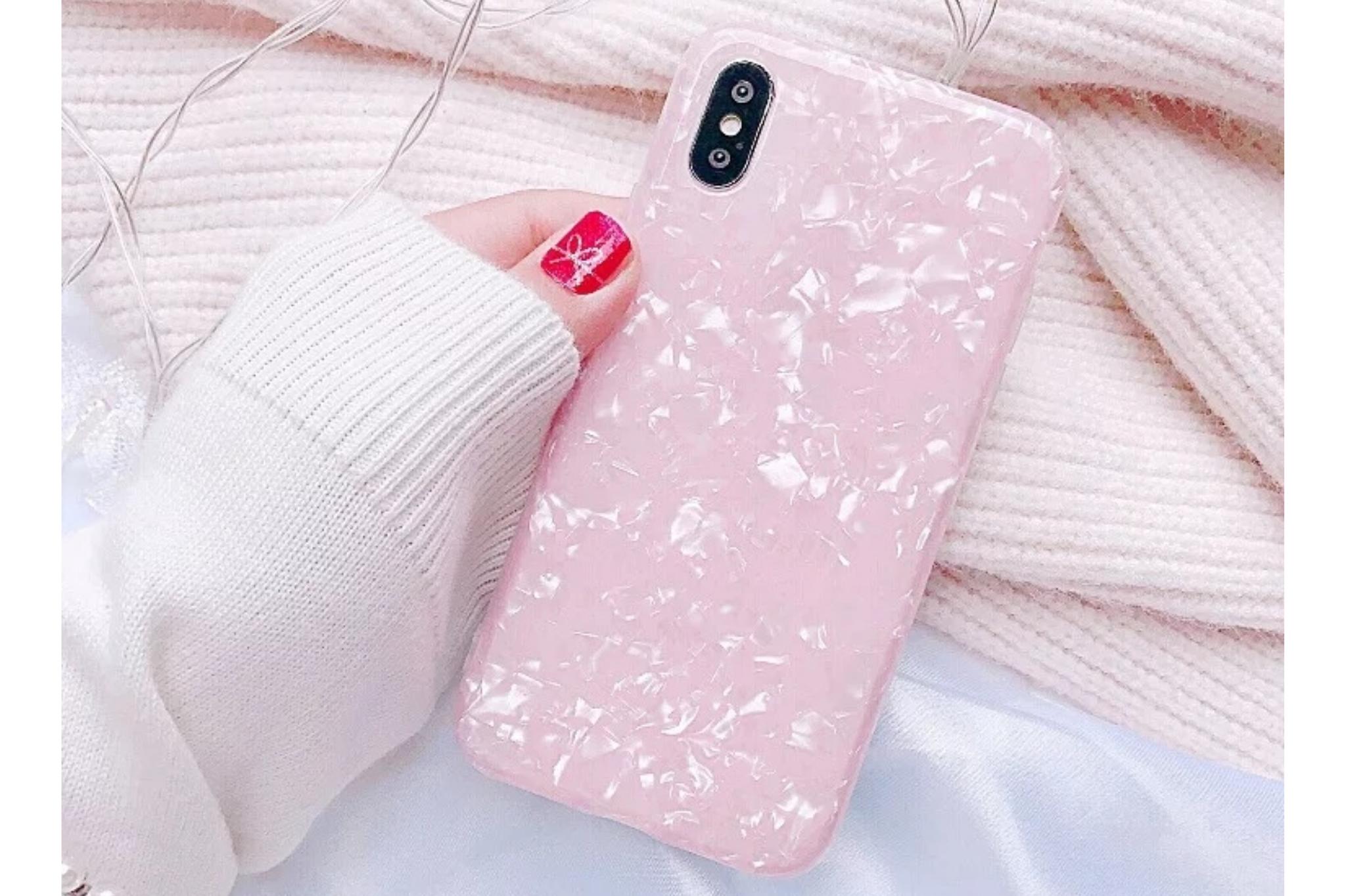 Smartphonehoesje Samsung S9 | Transparant | Roze