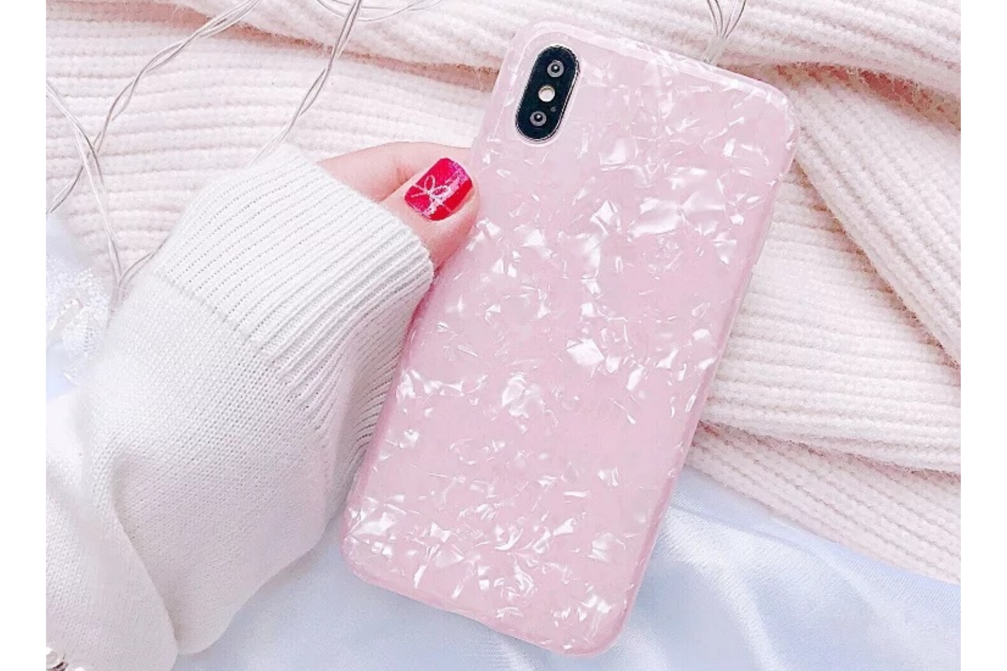 Smartphonehoesje Samsung S10 | Transparant | Roze