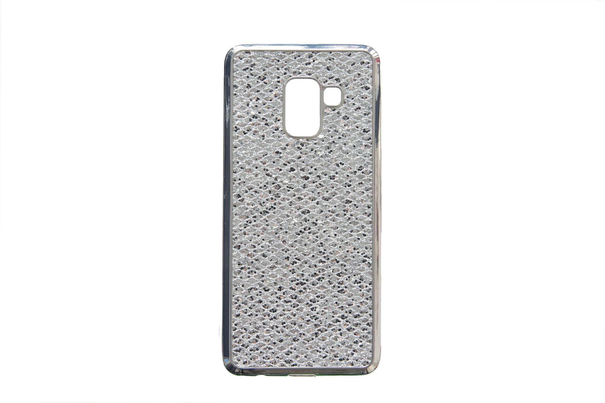 Smartphonehoesje Samsung A8 | Bling met glitters | Zilver