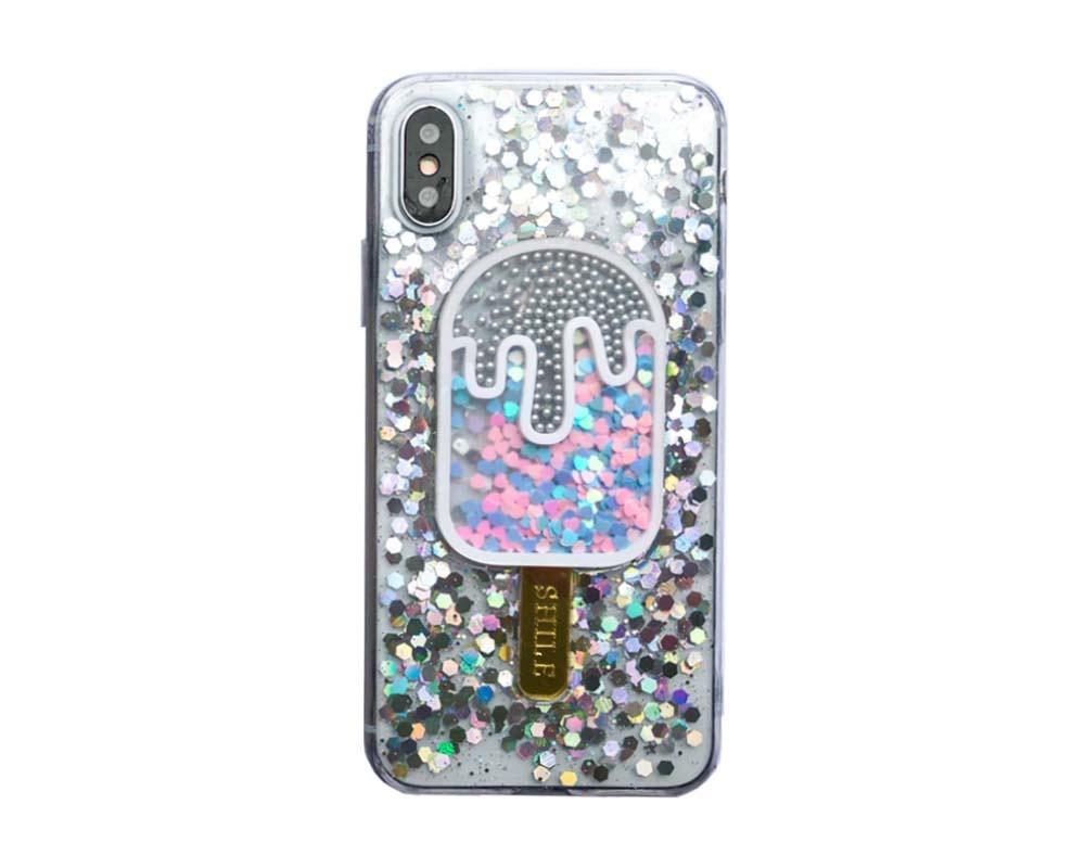 Smartphonehoesje iPhone 7 / 8 | Glitterijsje zilver