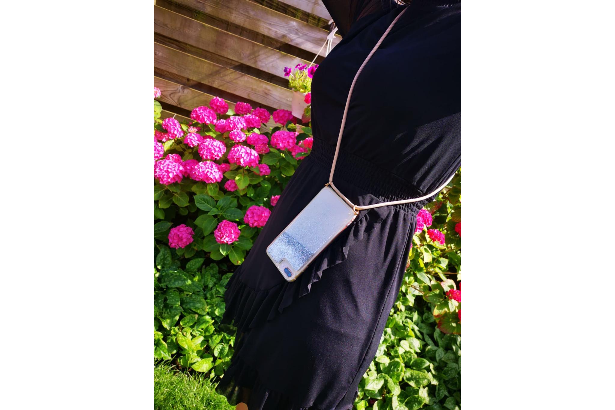 Smartphonehoesje iPhone 7 plus / 8 plus   Koord en glitters