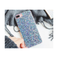 Smartphonehoesje iPhone 7 / 8   Blauwe glitters