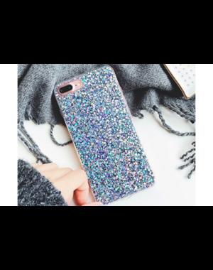 Smartphonehoesje iPhone 7 / 8 | Blauwe glitters