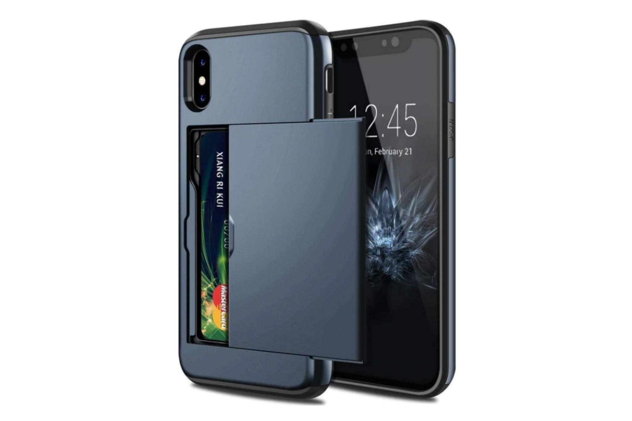 Smartphonehoesje iPhone 7 / 8 Plus | Pasjesschuif blauw